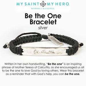 My Saint My Hero Be the One Bracelet Silver